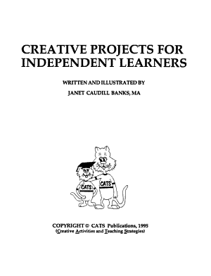 Creative Projects for Independent Learners PDF