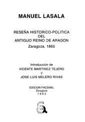 Reseña histórico-política del antiguo reino de Aragón