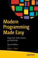 Modern Programming Made Easy PDF