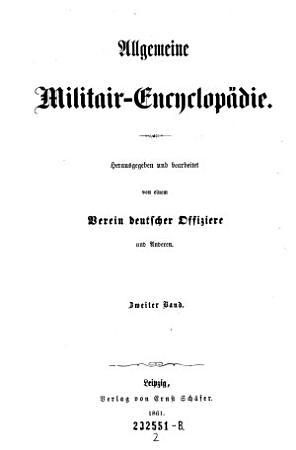 Allgemeine Militair Encyclopadie PDF