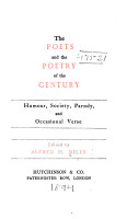 The Poets and the Poetry of the Century      Humour  society  parody  and occasional verse   1894 PDF