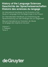 History of the Language Sciences   Geschichte der Sprachwissenschaften   Histoire des sciences du langage  3  Teilband PDF