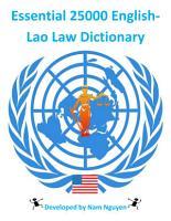 Essential 25000 English Lao Law Dictionary PDF