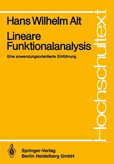 Lineare Funktionalanalysis PDF