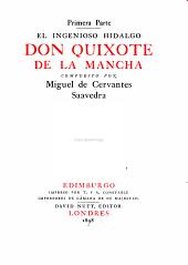 El Ingenioso Hidalgo Don Quixote De La Mancha: Volumen 1,Número 1