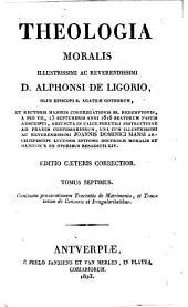 Theologia moralis: Volume 7