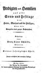 Predigten und Homilien auf alle Sonn- und Festtage etc. 2., verb. u. verm. Aufl: 19-21
