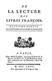 Mélanges tirés d'une grande bibliothèque: Volume7