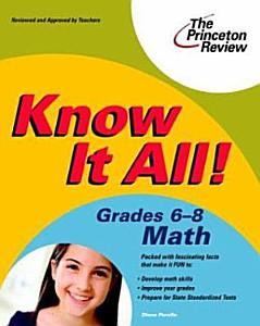 Know It All  Grades 6 8 Math PDF