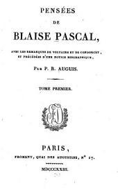 Pensées de Blaise Pascal: Volume1