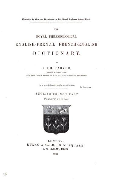 Download The Royal Phraseological English French  French English Dictionary Book
