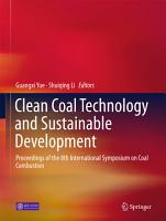 Clean Coal Technology and Sustainable Development PDF