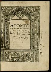 Pomponii Melae De situ orbis: libri tres