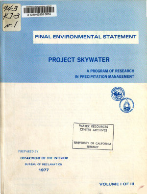 Final Environmental Statement for Project Skywater PDF