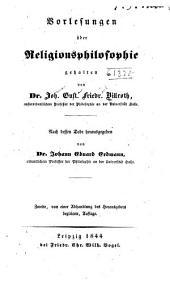 Vorlesungen über religionsphilosophie gehalten