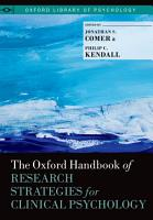 The Oxford Handbook of Research Strategies for Clinical Psychology PDF
