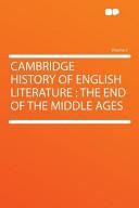 Cambridge History of English Literature PDF
