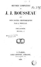Oeuvres Completes de J.J. Rousseau, 4: Volume7