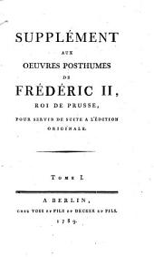 Oeuvres posthumes: Volume 16