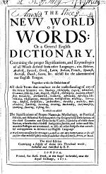 The new world of English words