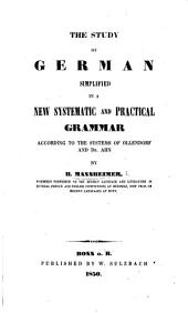 The Study of German Simplified ... According to the Systems of Ollendorf and Dr. Ahn