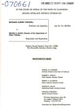 California. Court of Appeal (2nd Appellate District). Records and Briefs: B070661, Respondent Brief