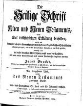 Die Heil. Schrift, nebst einer vollstaendigen Erklaerung derselben aus den Anmerkungen Englaend. Schriftsteller: Band 13