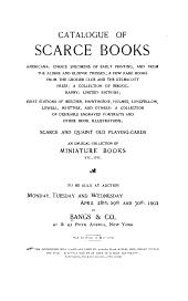 Catalogue of Scarce Books, Americana, Etc