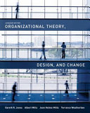 Organizational Theory  Design  and Change Book