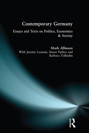Contemporary Germany PDF