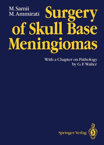 Surgery of Skull Base Meningiomas PDF