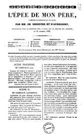 L'epee de mon pere comedie-vaudeville en un acte par MM. Ch. Desnoyer et D'Avrecourt