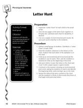 Environmental Print & Phonological Awareness: Letter Hunt