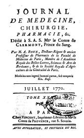 Journal de médecine, chirurgie, pharmacie, & c: Volume 33