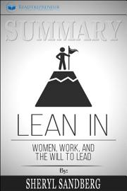 Summary  Lean In  Women  Work  And The Will To Lead