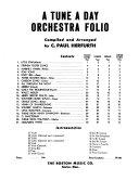 A tune a day orchestra folio