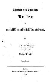 Alexander von Humboldt's Reisen in Amerika und Asien: Eine darstellung seiner wichtigsten forschungen, Bände 3-4