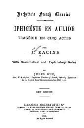 Iphigénie en Aulide: tragédie en cinq actes