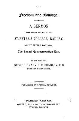Freedom and bondage  a sermon