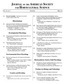Journal of the American Society for Horticultural Science