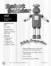 Recognizing Shapes--Robot Builder Activity