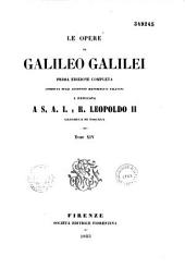 Le Opere di Galileo Galilei: Volume 13