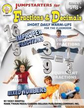 Jumpstarters for Fractions & Decimals, Grades 4 - 8