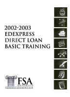 2002 2003 EDExpress Direct Loan Basic Training PDF