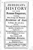 Herodian s History of the Roman Emperors PDF