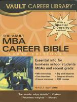 Master of Business Administration Career Bible PDF