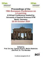 ECEL 2020 19th European Conference on e Learning PDF