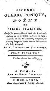 Seconde guerre punique, poème de Silius Italicus: Volume3