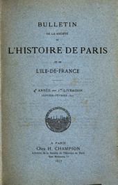 Bulletin de la Société de l'histoire de Paris et de l'Ile-de-France: Volume4
