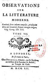 Observations sur la littérature moderne
